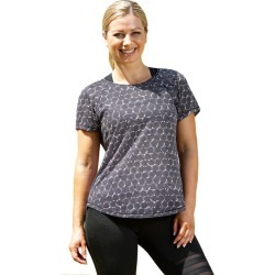 Lasculpte Women's Printed Short Sleeve Sports Tee Top - Black Print - 14 found on Bargain Bro from Noni B Limited for USD $23.48