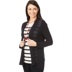 W.lane Textured Trim Cardigan - French Navy - XS found on Bargain Bro from Noni B Limited for USD $14.73