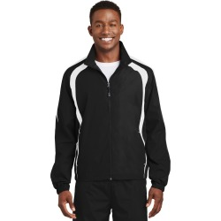 Sport-tek Colorblock Raglan Jacket - Black/ White - Black/ White - L found on Bargain Bro India from Rockmans for $36.20