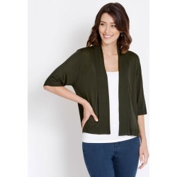 Rockmans Elbow Sleeve Crop Cardi - Evergreen - XL found on Bargain Bro India from Rockmans for $14.48