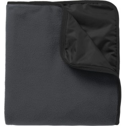 Port Authority Fleece & Poly Travel Blanket - Lead Grey/ Black - Lead Grey/ Black - one found on Bargain Bro India from Rockmans for $29.90