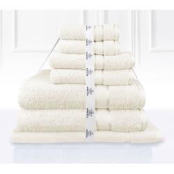Kingtex 7 Piece Bath Towel Set - Cream - One found on Bargain Bro from Noni B Limited for USD $22.19
