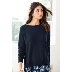 Grace Hill Pleat Back Sweater - Navy - S found on Bargain Bro India from Rockmans for $28.97