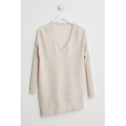 Capture Merino Rib V Neck Sweater - Oatmeal Marl - XL found on Bargain Bro Philippines from Rivers for $28.77