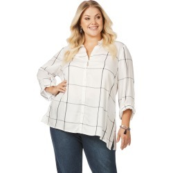 Beme 3/4 Sleeve Check Shirt - Blk/white Check - 26 found on Bargain Bro from Noni B Limited for USD $14.68