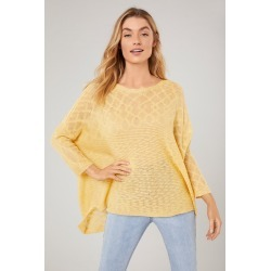 Emerge Textured 3/4 Sleeve Knit - Yellow - M found on Bargain Bro from Noni B Limited for USD $13.51
