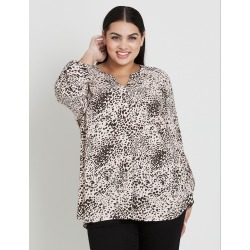 Beme Long Sleeve Leopard Swirl Shirt - 18 found on Bargain Bro India from crossroads for $15.43