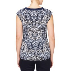 Rockmans Extended Sleeve Bead Neck Print Top - Multi - XS found on Bargain Bro Philippines from W Lane for $7.85