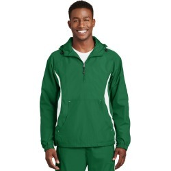 Sport-tek Colorblock Raglan Anorak - Kelly Green/ White - Kelly Green/ White - 2XL found on Bargain Bro Philippines from Rockmans for $39.44