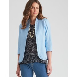 W.lane Linen Textured Jacket - Bright Powder - 12 found on Bargain Bro India from Rockmans for $21.30