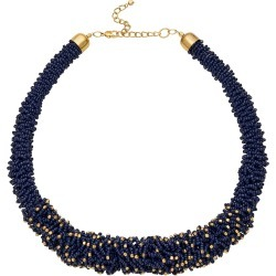 W.lane Midnight Seed Bead Necklace - Navy found on Bargain Bro India from crossroads for $16.13