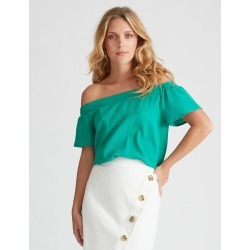 Sslv Off Sh Top - Vivid Green - 14 found on Bargain Bro Philippines from Rockmans for $11.07