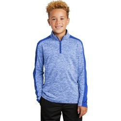 Sport-tek Youth Posicharge Electric Heather Colorblock 1/4-zip Pullover - True Royal Electric/ True Royal found on Bargain Bro India from crossroads for $22.87