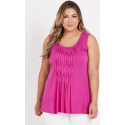 Beme Sleeveless Twist Front Singlet - Fushia - XS found on Bargain Bro from Noni B Limited for USD $11.74