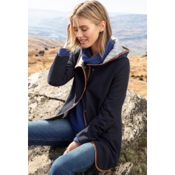 Capture Hooded Trim Coat - Navy - 22 found on Bargain Bro India from Rockmans for $37.80