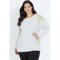 Autograph Star Jumper - Grey Marl/ Lime - M found on Bargain Bro India from Noni B Limited for $10.86