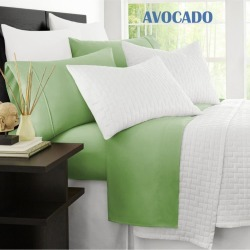 Ramesses Original 2000tc Cooling Bamboo Sheet Set - Avocado - Single found on Bargain Bro from Noni B Limited for USD $31.19