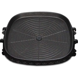 Soga Ss Stone Bbq Non Stick Square Grill Plate - Black found on Bargain Bro India from crossroads for $38.36