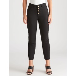 Rockmans 7/8 Length Button Front Henna Jean - Black found on Bargain Bro India from Rockmans for $27.99