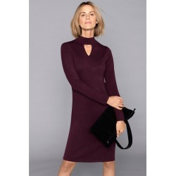 Capture Knitted Keyhole Neck Dress - Berry - XL found on Bargain Bro from Rivers for USD $11.72