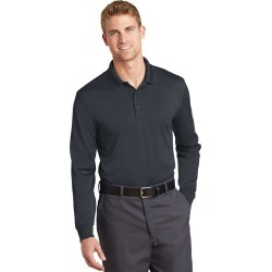 Cornerstone Select Snag-proof Long Sleeve Polo - Charcoal - L found on Bargain Bro India from Rivers for $41.16