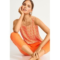 Emerge Wide Strap Printed Cami - Orange Print - 10 found on Bargain Bro India from Rivers for $12.95