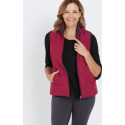 Millers Reversible Puffer Vest - Charcoal/berry - 18 found on Bargain Bro from Noni B Limited for USD $20.55