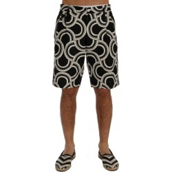 Dolce & Gabbana Black White Pattern Linen Shorts - IT46 / S found on Bargain Bro India from W Lane for $318.85