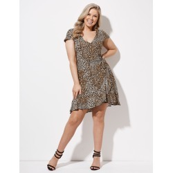 Crossroads Knit Wrap Mini Dress - Leopard - 8 found on Bargain Bro Philippines from Rockmans for $14.20