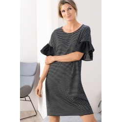 Grace Hill Ruffle Sleeve Dress - Stripe - 16 found on Bargain Bro India from Rockmans for $34.31