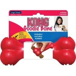 Kong Dog Goodie Bone Food Dispenser Interactive Dog Toy Red Large - Multi