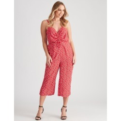 Crossroads Ruched Front Jumpsuit - Ditsy Floral - 10 found on Bargain Bro Philippines from crossroads for $19.65