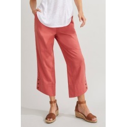 Capture Linen Blend Button Cuff Crop - Cinnamon - 16 found on Bargain Bro India from Rockmans for $23.92