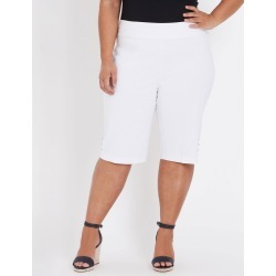 Beme Pull On Bengaline Short - White - 18 found on Bargain Bro from Rockmans for USD $15.03