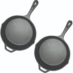 Soga 26cm Round Cast Iron Non-stick Frypan With Handle 2pack - Black found on Bargain Bro India from crossroads for $74.48