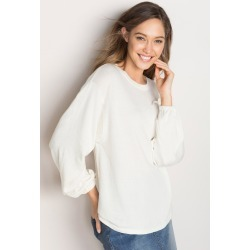 Emerge Tie Sleeve Sweater - Ecru - XXL found on Bargain Bro India from Rivers for $12.95