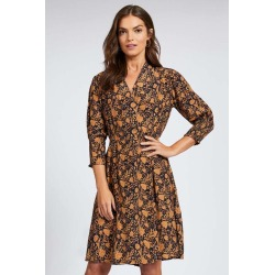 Emerge Mock Wrap 3/4 Sleeve Dress - Paisley - 12 found on Bargain Bro from crossroads for USD $29.31