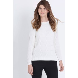 W.lane Cable Front Pullover - White - XXL found on Bargain Bro India from Noni B Limited for $21.72