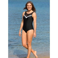 Lasculpte Women's Mesh Yoke Tummy Control One Piece Suit - Black/white - 12 found on Bargain Bro from Noni B Limited for USD $35.22