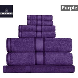 Kingtex 7 Piece Bath Towel Set - Purple - One found on Bargain Bro from Noni B Limited for USD $22.19