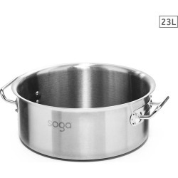 Soga Ss Top Grade Stock Pot 23l No Lid 18/10 - Stainless Steel - ONE found on Bargain Bro from Noni B Limited for USD $49.26