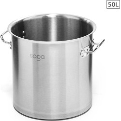 Soga Ss Top Grade Stock Pot No Lid 50l 40cm 18/10 - Stainless Steel - ONE found on Bargain Bro from Noni B Limited for USD $85.07