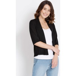 Rockmans Elbow Sleeve Crop Cardi - Black - XL found on Bargain Bro Philippines from Rockmans for $10.27