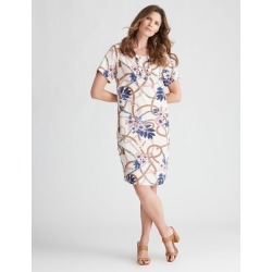 W.lane Floral Chain Print Linen Dress - 8 found on Bargain Bro from Rockmans for USD $14.73