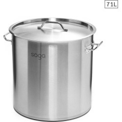 Soga Ss Top Grade Thick Stock Pot 45cm 71l 18/10 - Stainless Steel - ONE found on Bargain Bro from Noni B Limited for USD $108.55