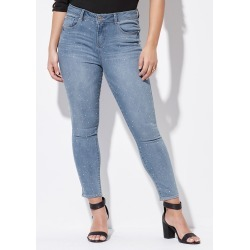 Crossroads Ao Stud Denim Jean - Mid Wash - 22 found on Bargain Bro India from Rockmans for $27.09