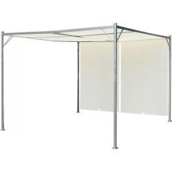 Pergola With Adjustable Roof Steel - White