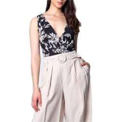 Ak Women's Floral Sleeveless Bodysuit - Black found on Bargain Bro Philippines from crossroads for $86.25
