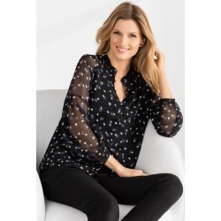Grace Hill Chiffon Shirt - Black Print - 10 found on Bargain Bro from Rivers for USD $29.38