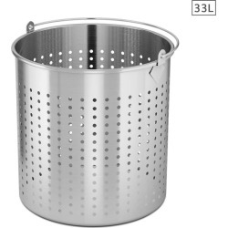 Soga Ss Perforated Stockpot Strainer With Handle 33l 18/10 - Stainless Steel found on Bargain Bro India from crossroads for $75.25